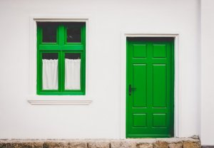 Green door and a green window. What is an Affidavit of Heirship?